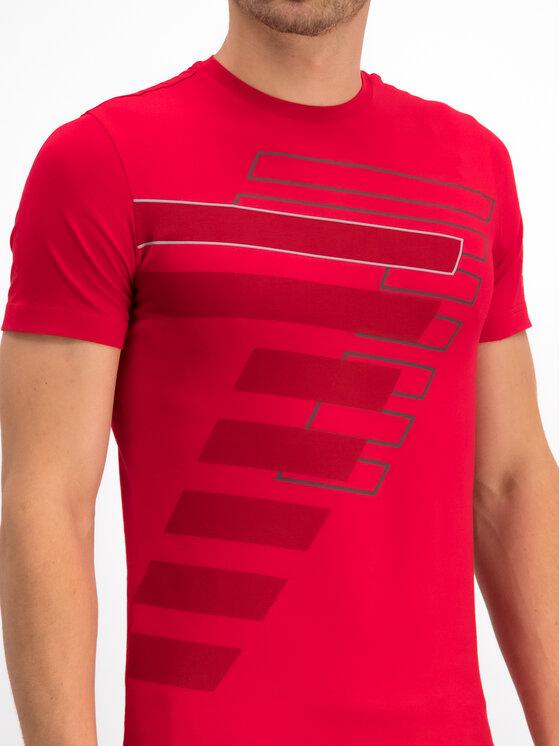 EA7 Emporio Armani EA7 Emporio Armani Marškinėliai 6GPT60 PJP6Z 1450 Raudona Regular Fit