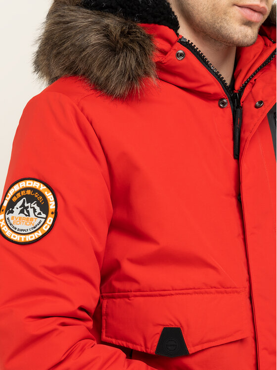Superdry Superdry Daunenjacke Everest M5000039A Rot Regular Fit