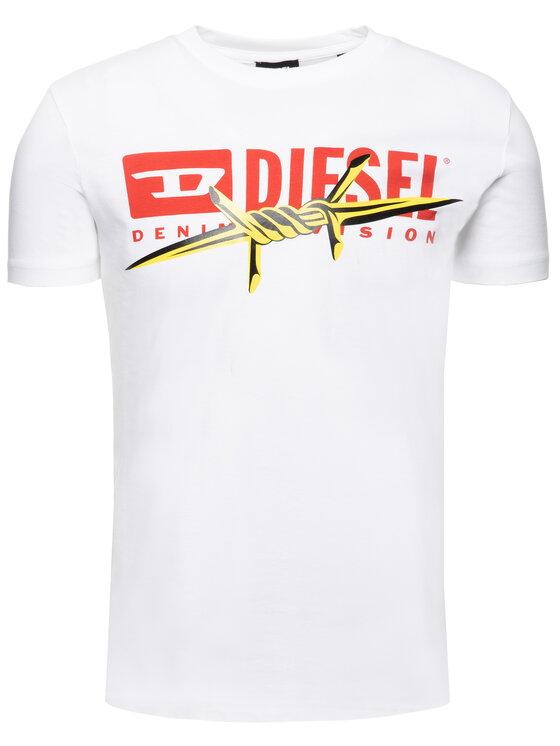 Diesel Diesel Tričko 00S014 0EAXG Biela Regular Fit