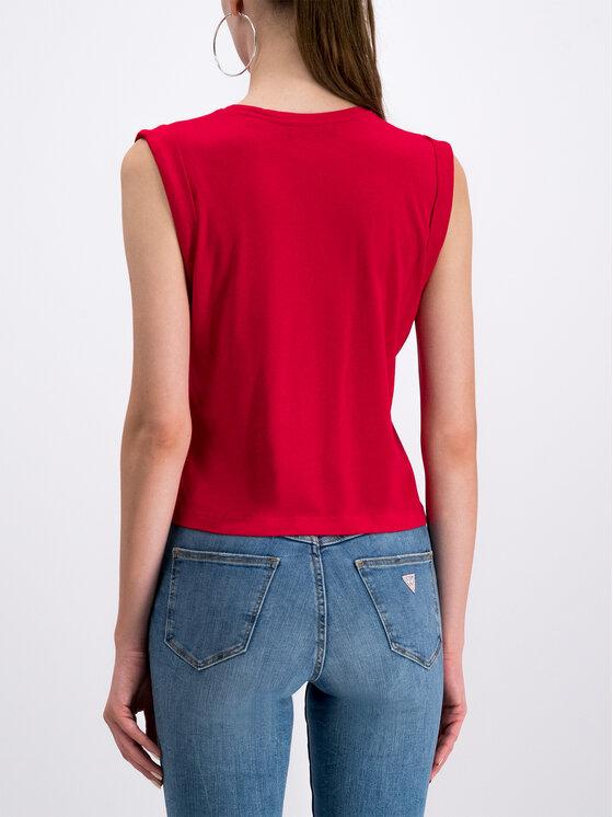 Guess Guess Marškinėliai W93I77 K8C40 Raudona Regular Fit
