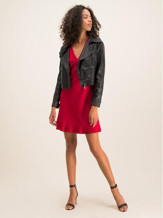 TwinSet TwinSet Sukienka koktajlowa 192TT2061 Czerwony Regular Fit