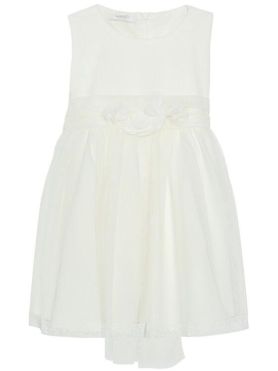 Liu Jo Kids Elegantiška suknelė HF0007 J9986 Balta Regular Fit