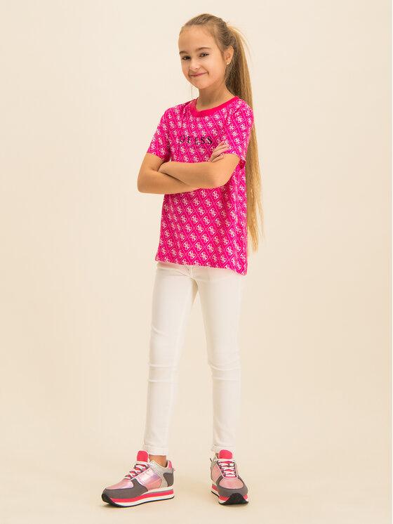 Guess Guess T-Shirt J01I05 WBIH0 Różowy Regular Fit