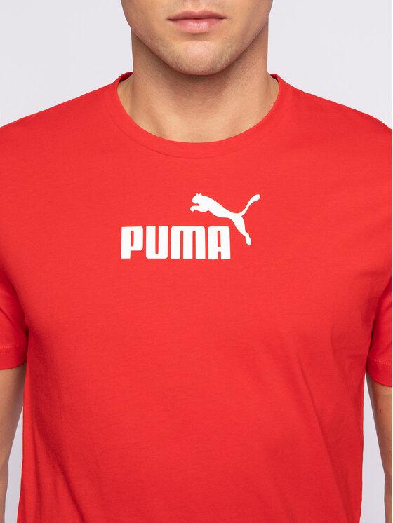 Puma Puma Тишърт Amplified 581384 11 Червен Regular Fit