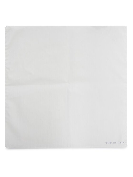 Tommy Hilfiger Tommy Hilfiger Poszetka Cotton Solid Pocket Square TT0TT07938 Biały