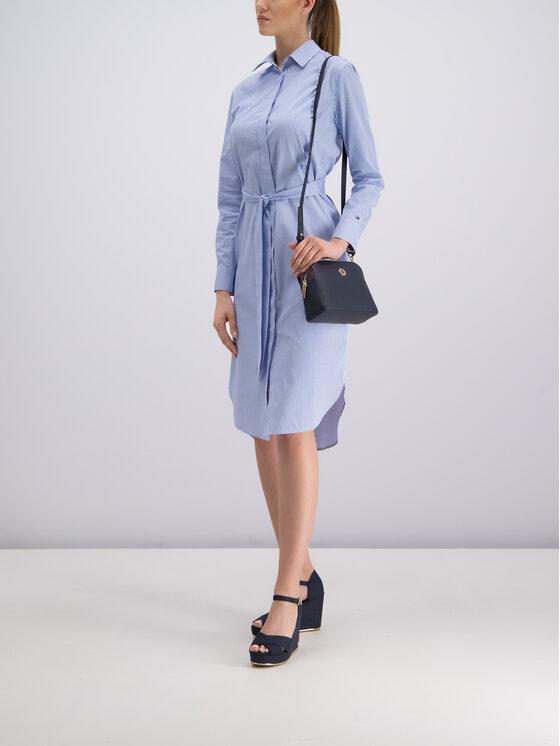Tommy Hilfiger Tommy Hilfiger Φόρεμα πουκάμισο WW0WW25286 Μπλε Regular Fit
