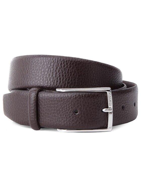 Calvin Klein Calvin Klein Pasek Męski Justin 1 Pebble Adjustable Belt K50K500502 105 Brązowy