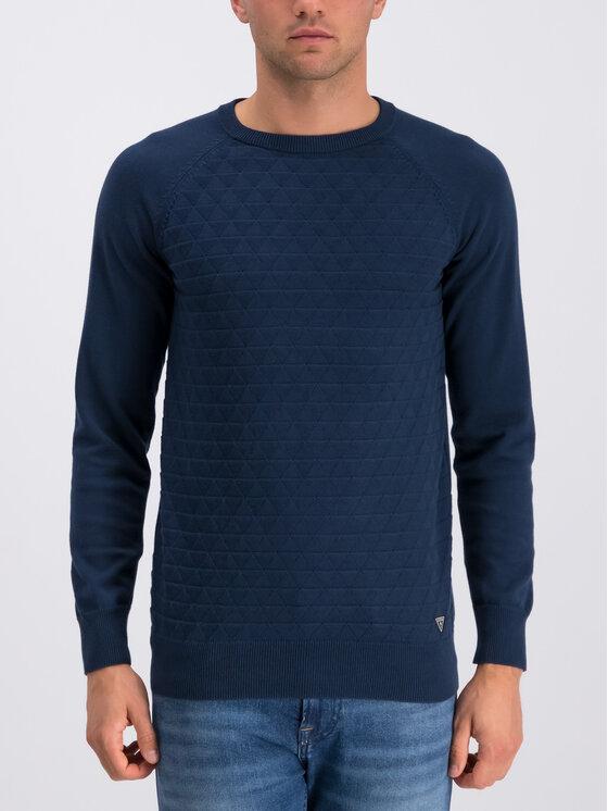 Guess Guess Sweter U94R00 ZZ03B Granatowy Regular Fit