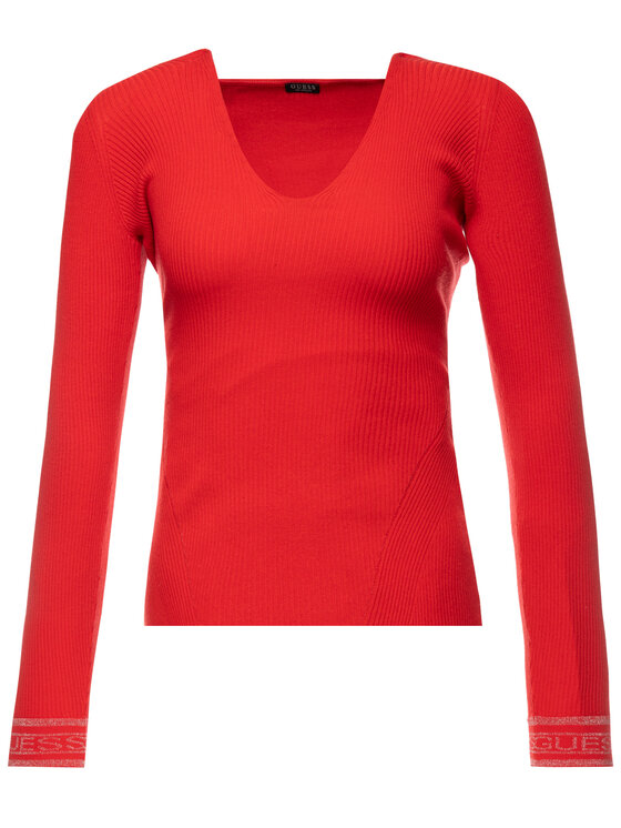 Guess Guess Maglione W93R76 Z2G30 Rosso Slim Fit