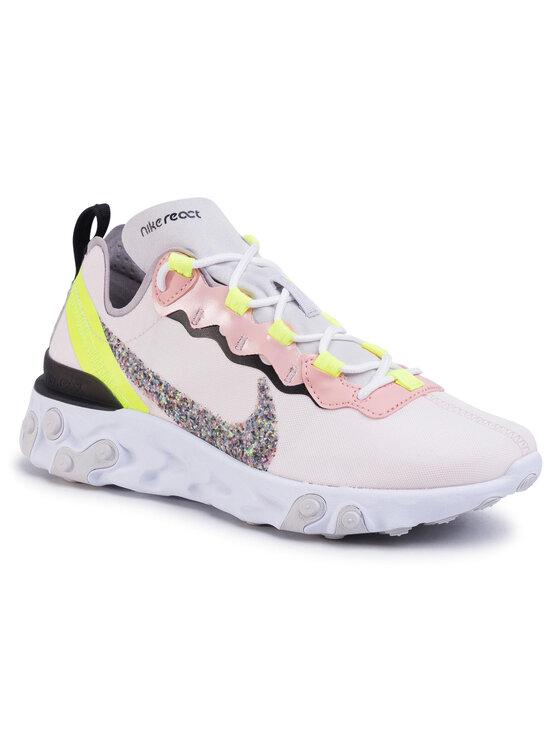 Nike Nike Buty React Element 55 Prm CD6964 600 Różowy