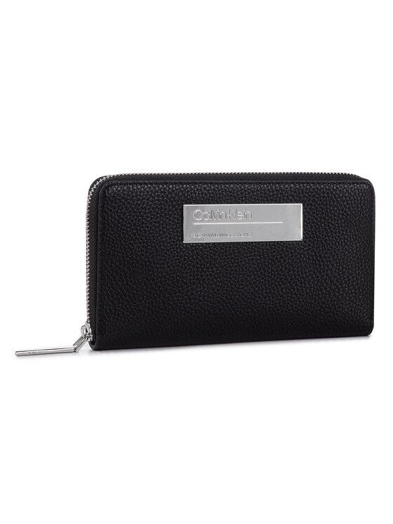 Calvin Klein Calvin Klein Duży Portfel Damski Sided Large Ziparound Xl K60K605345 Czarny