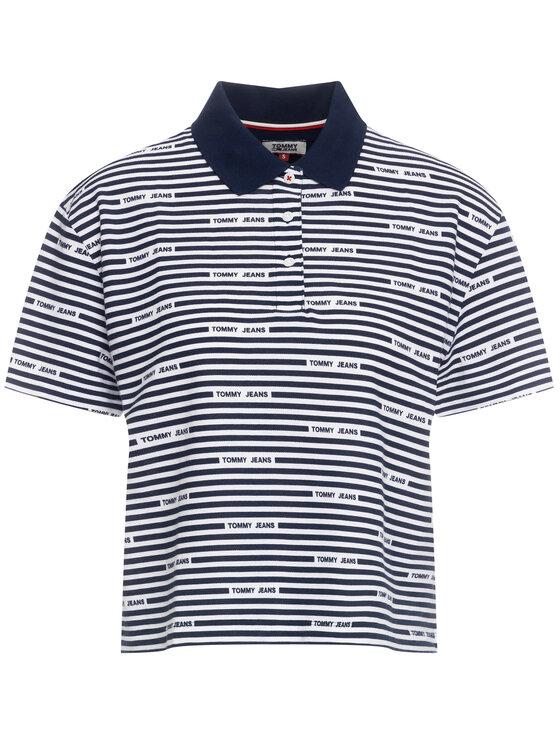Tommy Jeans Tommy Jeans Polohemd Stripe DW0DW07643 Dunkelblau Oversize