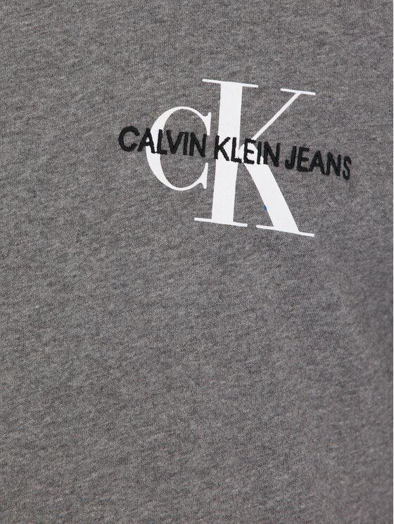 Calvin Klein Jeans Calvin Klein Jeans Póló Monogram Embro J30J313438 Szürke Regular Fit