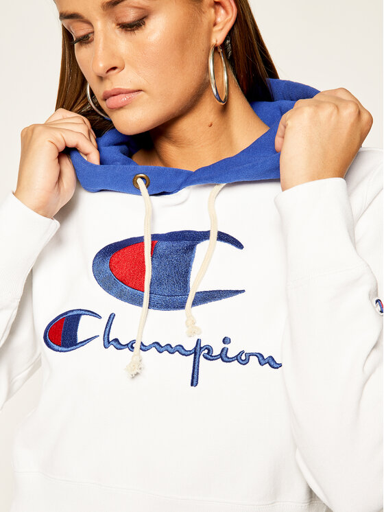 Champion Champion Суитшърт 112534 WW001 Бял Regular Fit