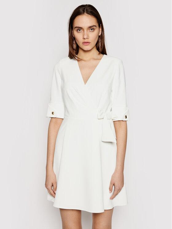 Marciano Guess Kokteilinė suknelė 1GG743 9529Z Balta Regular Fit