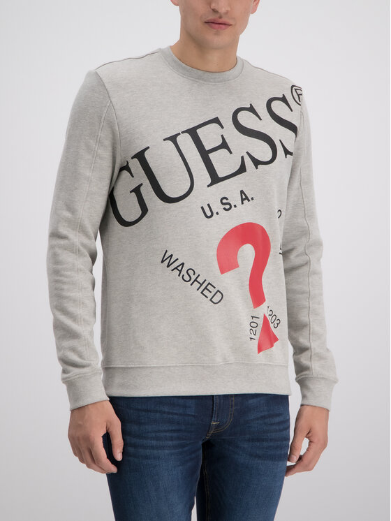 Guess Guess Mikina M93Q33 K8S40 Sivá Slim Fit