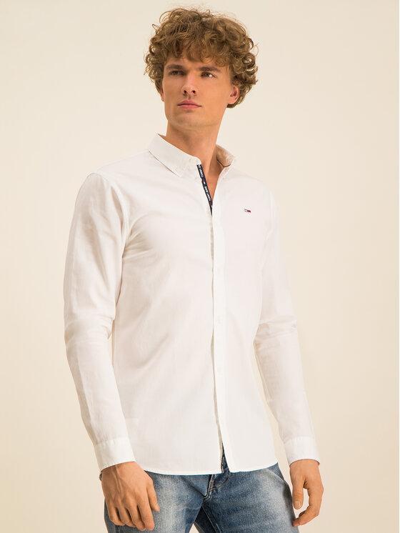 Tommy Jeans Tommy Jeans Koszula Tjw Light Twill DM0DM07504 Biały Slim Fit