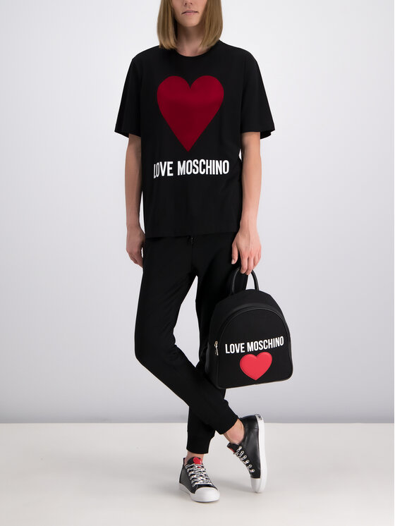 LOVE MOSCHINO LOVE MOSCHINO T-Shirt W4F8721M 3517 Μαύρο Oversize