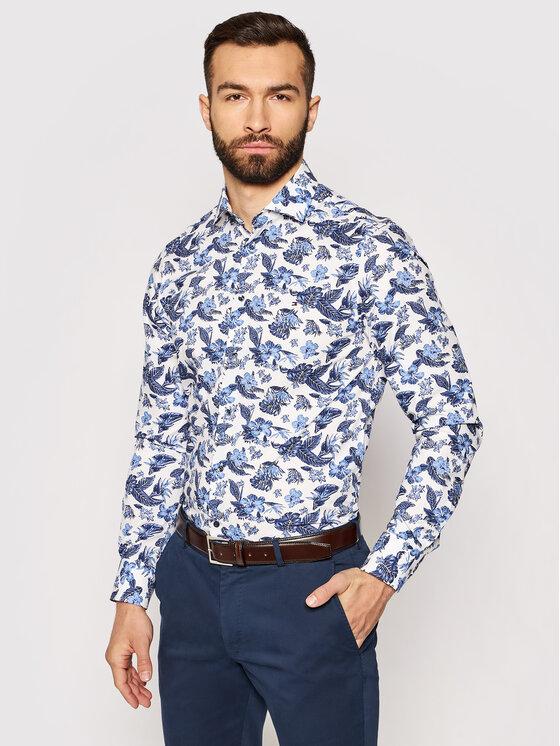 Tommy Hilfiger Tailored Marškiniai MW0MW17473 Mėlyna Slim Fit