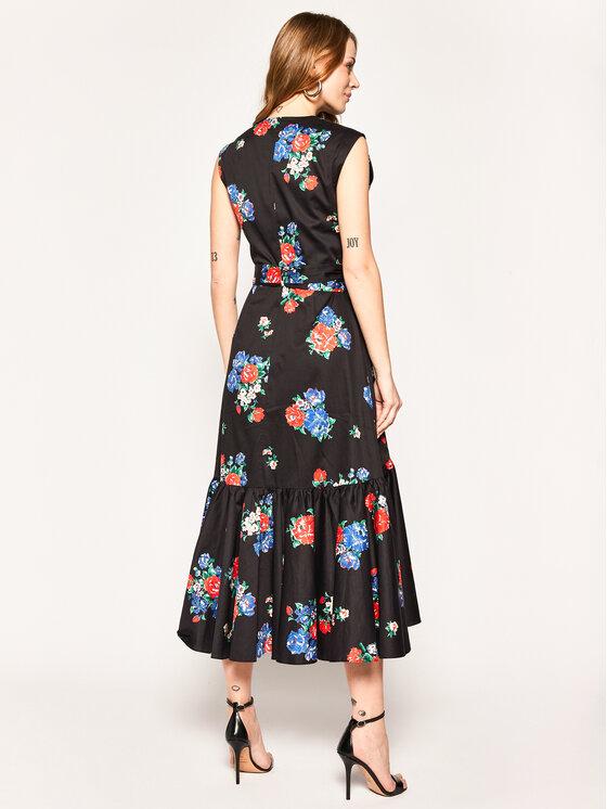 Tory Burch Tory Burch Kasdieninė suknelė Printed Wrap 58305 Juoda Regular Fit