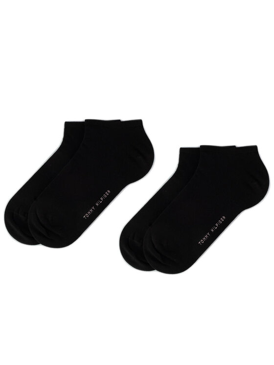 Tommy Hilfiger Tommy Hilfiger Súprava 2 párov kotníkových ponožiek dámskych 343024001 Čierna
