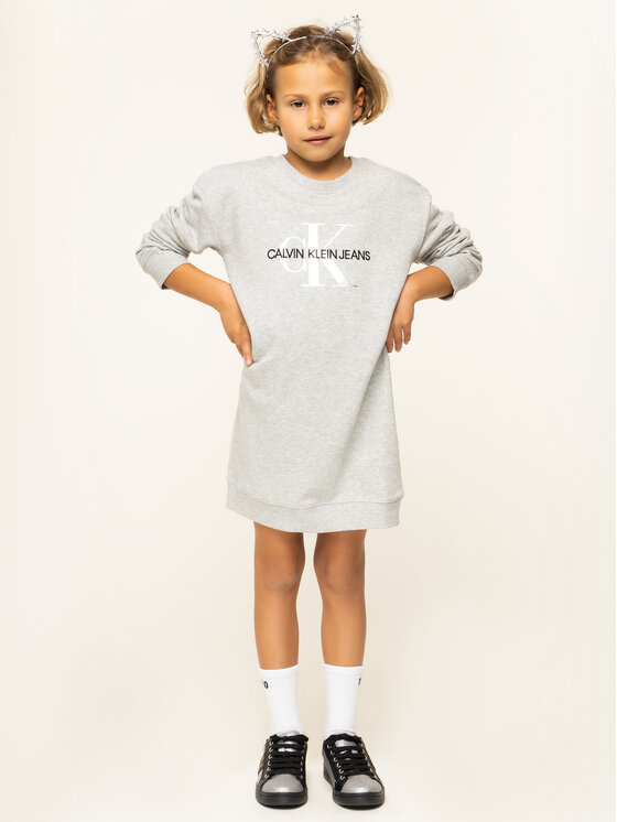 Calvin Klein Jeans Calvin Klein Jeans Mikina IG0IG00266 Sivá Regular Fit