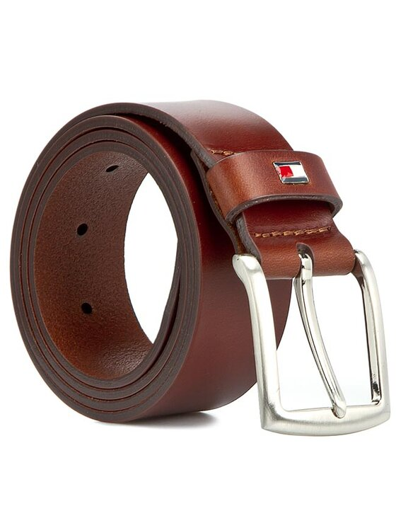 Tommy Hilfiger Tommy Hilfiger Curea pentru Bărbați New Denton Belt 3.5 AM0AM01003 Maro