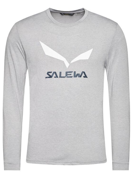 Salewa Salewa Koszulka techniczna Solidlogo Dry 27340 Szary Regular Fit