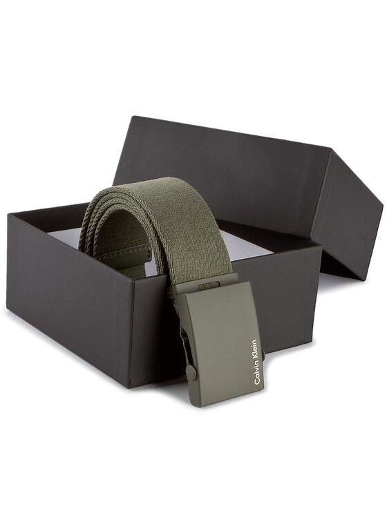 Calvin Klein Calvin Klein Ζώνη Ανδρική Canvas Adj Plaque Belt K50K500972 80 Πράσινο