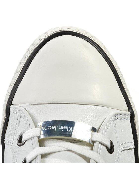 Calvin Klein Jeans Calvin Klein Jeans Sneakersy Violet Brush Off Kid RE9088 Bílá