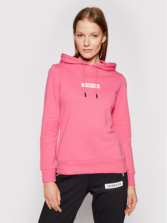 Calvin Klein Performance Džemperis Hoodie 00GWS1W303 Rožinė Regular Fit