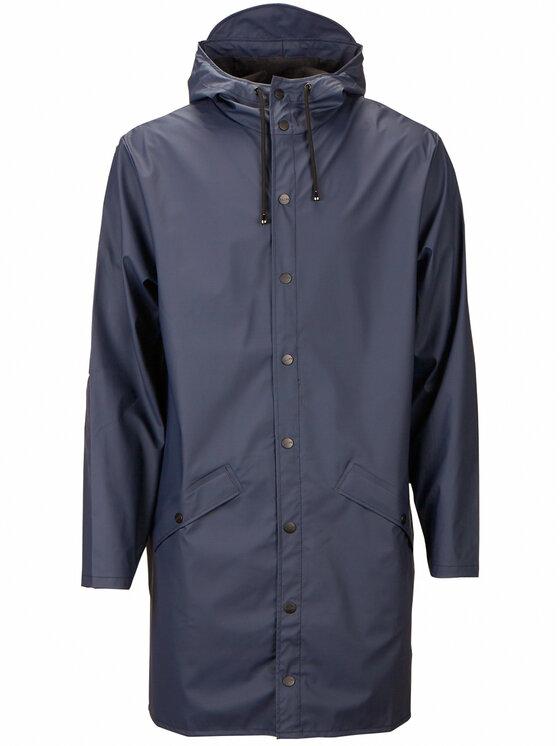 Rains Rains Kurtka przeciwdeszczowa Unisex Essential 1202 Granatowy Regular Fit