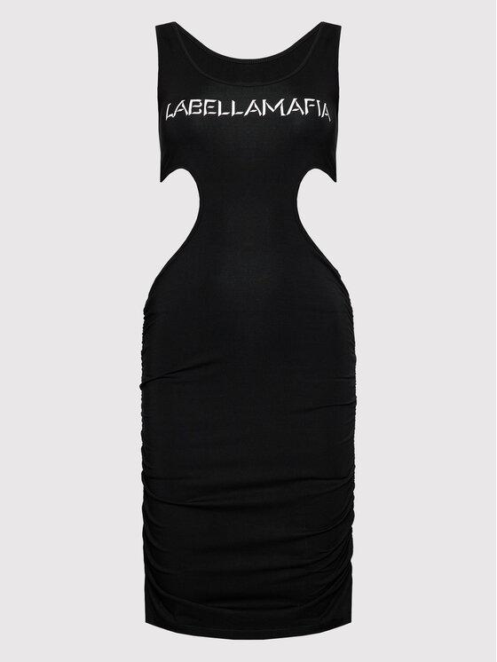 LaBellaMafia LaBellaMafia Haljina za svaki dan 21791 Crna Slim Fit