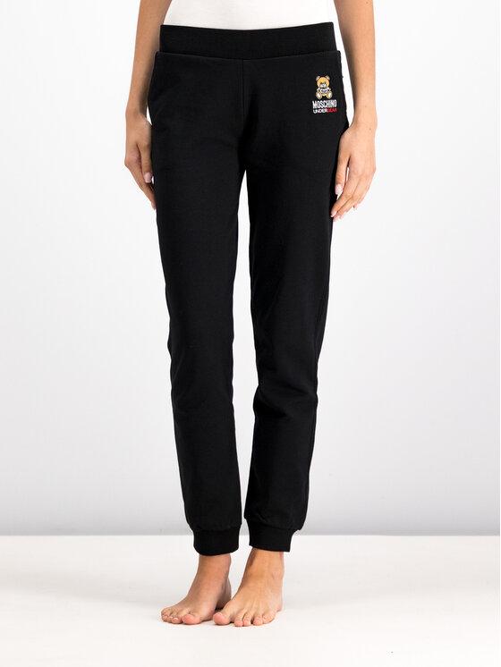 MOSCHINO Underwear & Swim MOSCHINO Underwear & Swim Melegítő alsó A4208 9029 Fekete Regular Fit