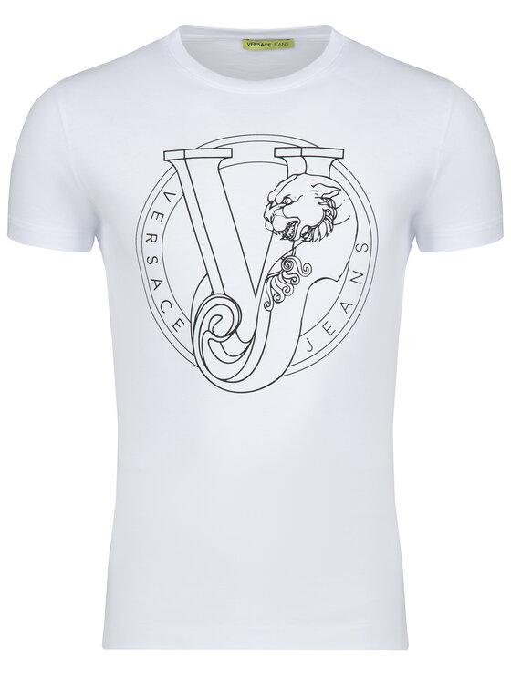 Versace Jeans Versace Jeans T-shirt B3GTB76H Bianco Slim Fit