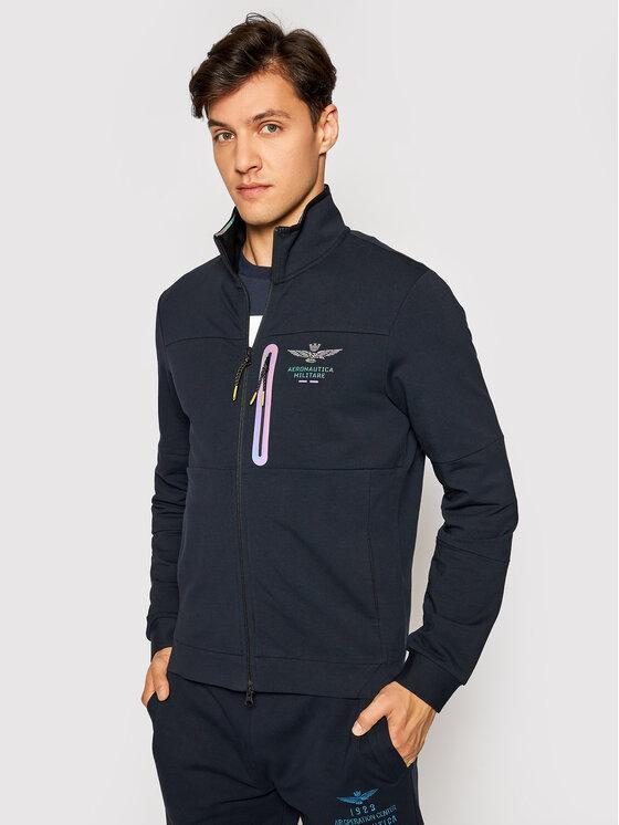 Aeronautica Militare Džemperis 211FE1586F428 Tamsiai mėlyna Regular Fit