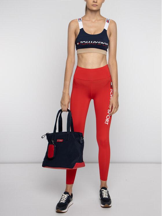 Tommy Sport Tommy Sport Legíny Logo S10S100083 Červená Slim Fit