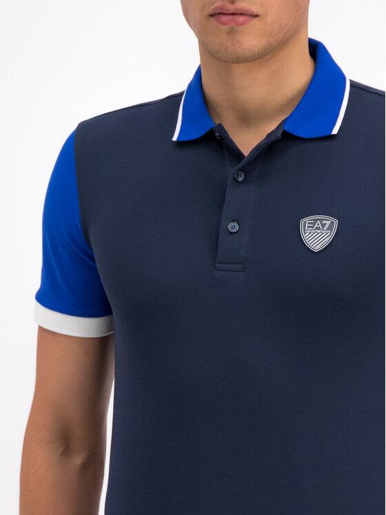 EA7 Emporio Armani EA7 Emporio Armani Тениска с яка и копчета 3GPF63 PJ04Z 1554 Тъмносин Regular Fit