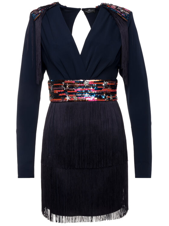 Elisabetta Franchi Elisabetta Franchi Kokteilinė suknelė AB-958-96E2-V569 Tamsiai mėlyna Slim Fit