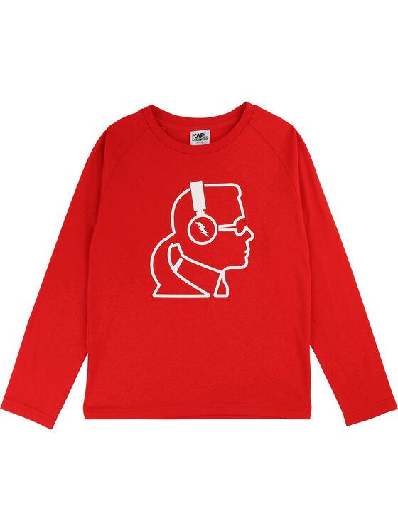 KARL LAGERFELD KARL LAGERFELD Μπλουζάκι Z25211 S Κόκκινο Regular Fit