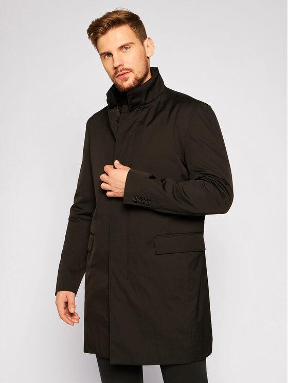 Strellson Demisezoninis paltas 11 Mayfair 30023258 Juoda Regular Fit