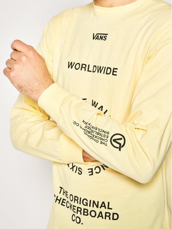 Vans Vans Μπλούζα Distortion VN0A49QLYKA1 Κίτρινο Classic Fit