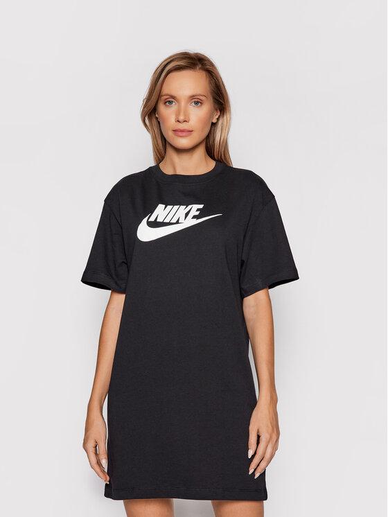 Nike Nike Haljina za svaki dan Sportswear Essential DM3278 Crna Loose Fit