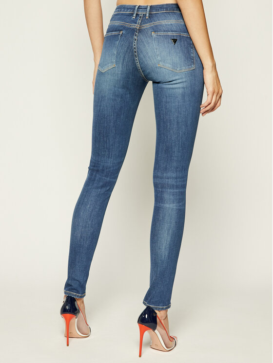 Guess Guess Jeansy Jegging Mid W93A03 D3BP4 Granatowy Ultra Skinny Fit