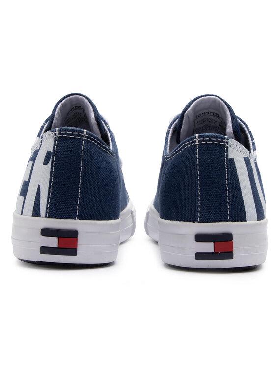 Tommy Hilfiger Tommy Hilfiger Plátěnky Low Cut Lace-Up Sneaker T3B4-30274-0618 Tmavomodrá