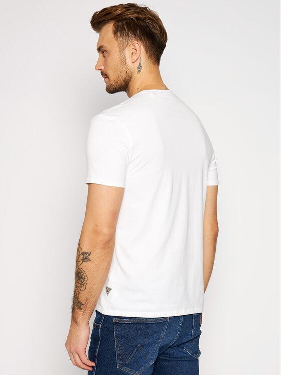 Guess Guess Marškinėliai M92I21 J1300 Balta Extra Slim Fit