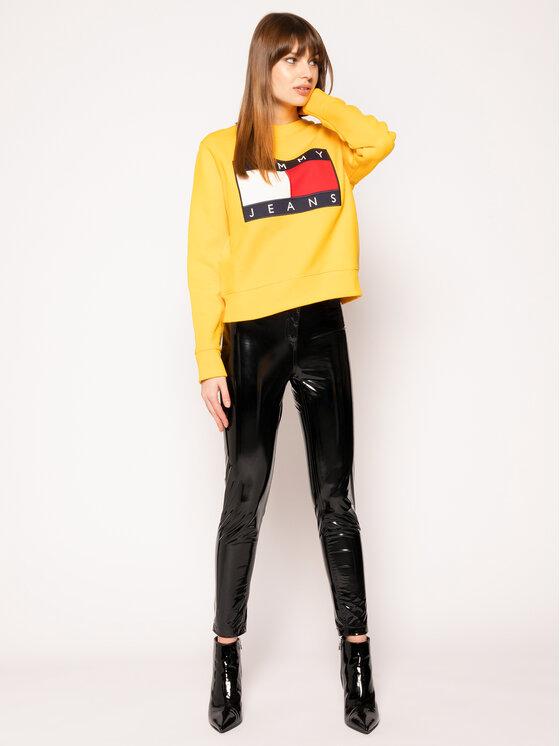 Tommy Jeans Tommy Jeans Bluza Tjw Flag Crew DW0DW07414 Żółty Regular Fit