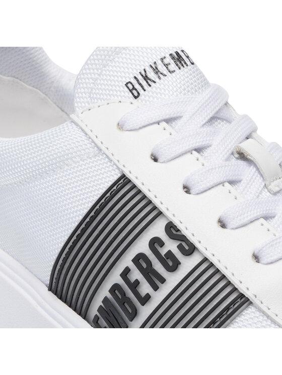 Bikkembergs Bikkembergs Laisvalaikio batai Low Top Lace Up B4BKM0027 Balta