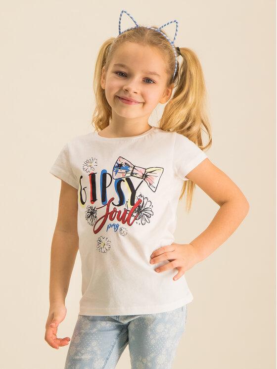 Primigi Primigi Marškinėliai 43222551 Balta Regular Fit