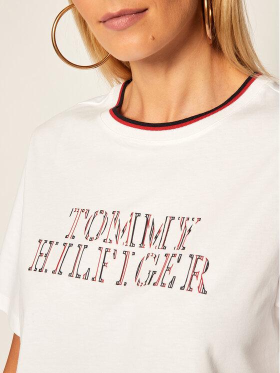 Tommy Hilfiger Tommy Hilfiger T-Shirt Carly WW0WW28446 Bílá Relaxed Fit